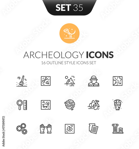 Photo Outline black icons set in thin modern design style
