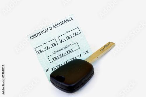 Photo Certificat d'assurance auto