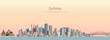 vector illustration of Sydney city skyline at sunrise