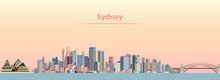 Vector Illustration Of Sydney ...