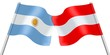 Flags. Argentina and Austria