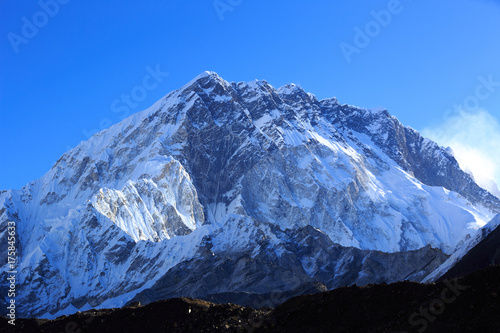 snow capped mountain landscape in nepal