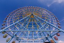 A Large Ferris Wheel.