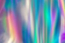 Abstract Holographic Background. Vivid Color Blurred Shades, Super Colorful Wallpaper.