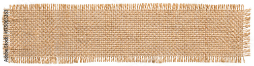 Keuken foto achterwand Stof Burlap Fabric Patch Label, Sackcloth Piece of Linen Jute, Sack C