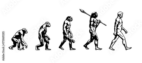 Canvas Print Evolution of man