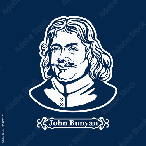 John Bunyan. Protestantism. Christian writer Canvas Print