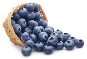Group of fresh blueberries