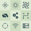 Learning Icons Set. Collection Of Laptop Ventilator, Wireless Communications, Recurring Program And Other Elements. Also Includes Symbols Such As Brain, Control, Wireless.