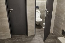 Toilet Stall Open