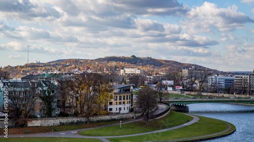 Obraz na dibondzie (fotoboard) Kraków, Kopiec Kościuszki, widok na miasto