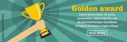Golden award banner horizontal concept Fototapete
