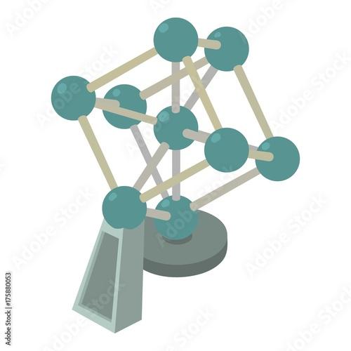 Photo Atomium icon, isometric 3d style