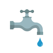 Water Tap. Vector Illustration...