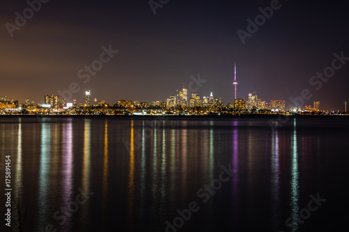 Obraz na dibondzie (fotoboard) Toronto Night City Skyline