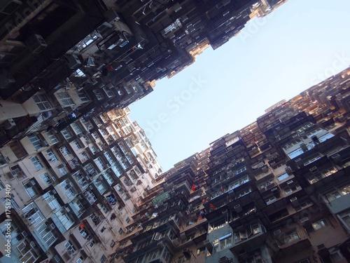 Obraz na dibondzie (fotoboard) Masywne apartamenty w Hongkongu
