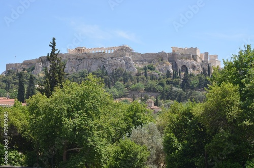Zdjęcie XXL Akropol w Atenach widziany z miasta