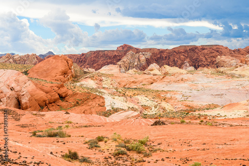Zdjęcie XXL niesamowite kształty piaskowca w dolinie ognia park narodowy, nevada
