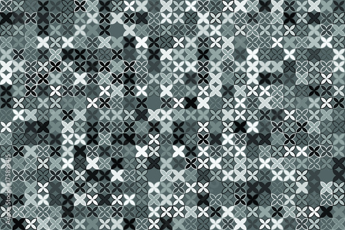 Türaufkleber Künstlich Seamless geometric pattern with colored elements, vector abstract background