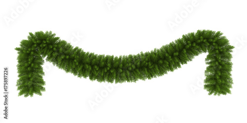 Stampa su Tela Christmas Garland Decoration Isolated