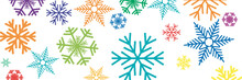 Vector Banner,  Colorful Winter Background