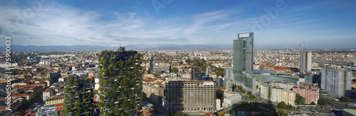 Fotobehang Milan Milano vista aerea