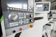 CNC machine control panel.