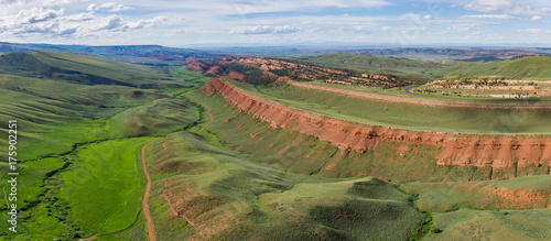 Fotografie, Obraz  Geological rock formations in central Wyoming's Red Canyon.