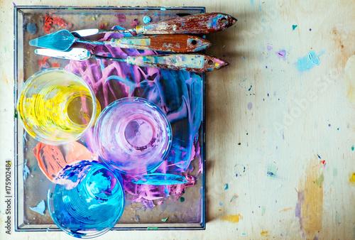 Zdjęcie XXL Artykuły artystyczne w suszonej farbie
