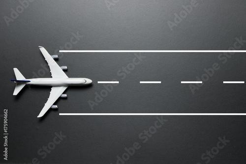Photo Model airplane on runway