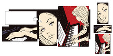 Collage On Theme Music.Girl At...