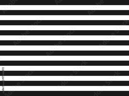 Fotografiet  Striped Seamless Pattern. Black and white background