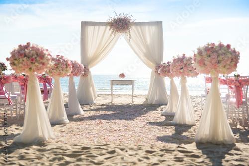 Fotografie, Obraz  Romantic wedding ceremony on the beach