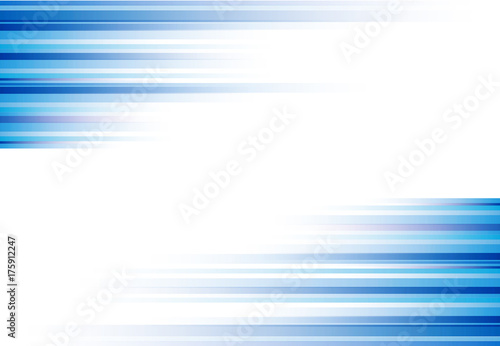 Fotografiet  Blue abstract horizonal lines background technology with copy space, Vector