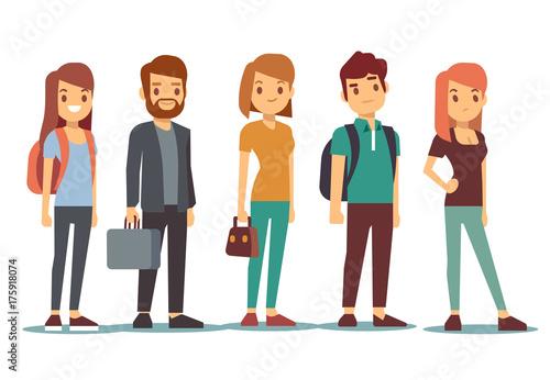 Fotografie, Obraz  Queue of young people