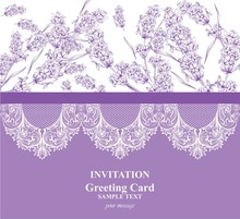 Invitation Card With Lavender ...