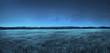 Leinwandbild Motiv Meadow landscape at night time