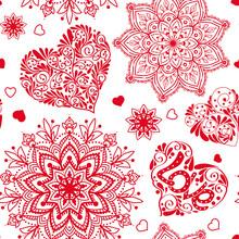 Love Heart And Mandalas Seamle...