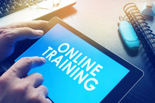 E-learning Concept. Online Tra...