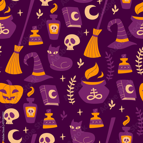 Cotton fabric Vector Background for Halloween.