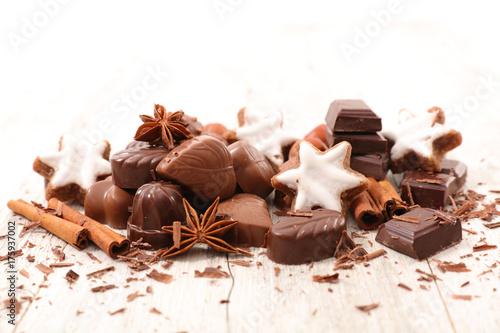 Plakat czekolada, piernik i przyprawy