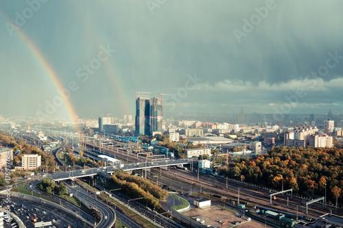 Obraz na dibondzie (fotoboard) Widok centrum Moskwy