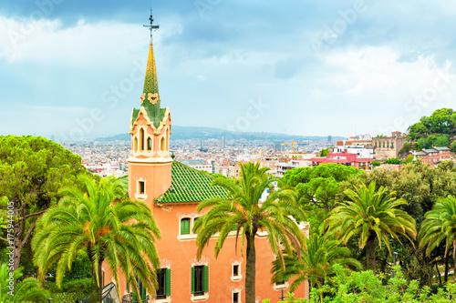 Obraz na dibondzie (fotoboard) Widok od Parkowego Guell w Barcelona, Catalonia Hiszpania