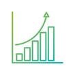 financial graph chart bar arrow growth concept