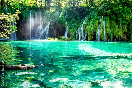 Foto op Plexiglas Groene Idyllic placein the National Park in Croatia