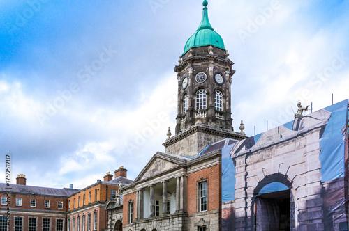 Obraz na dibondzie (fotoboard) Uliczny widok kościelni punkty zwrotni Dublin Irlandia