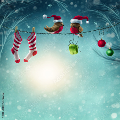 Abstract winter background Fototapet