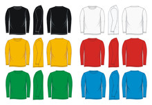 Shirt Long Sleeve Front, Side,...
