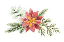 Watercolor Christmas Vector Bo...