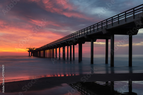 Sunset at Scripps Pier in La Jolla, California